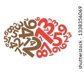 text cloud. numbers wordcloud.... | Shutterstock .eps vector #1338356069