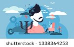 psychology vector illustration. ... | Shutterstock .eps vector #1338364253