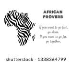 African Proverb Vector Poster....