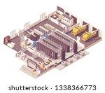 vector isometric data center.... | Shutterstock .eps vector #1338366773