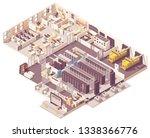 vector isometric data center.... | Shutterstock .eps vector #1338366776