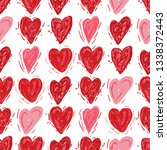 red and pink hearts. vector... | Shutterstock .eps vector #1338372443