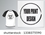 template blank men's white t... | Shutterstock .eps vector #1338375590