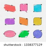 colorful quote frames ...   Shutterstock . vector #1338377129