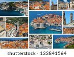 Dubrovnik in Croatia, collage postcard - stock photo
