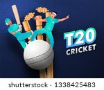 t20 cricket poster or flyer... | Shutterstock .eps vector #1338425483
