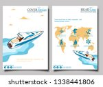 top view speed boat on water... | Shutterstock .eps vector #1338441806