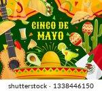 cinco de mayo mexican holiday... | Shutterstock .eps vector #1338446150