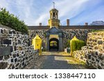 Small photo of Entrance to the Castle of Good Hope or Cape Town Castle (Kasteel die Goeie Hoop) - bastion fort built in the XVII century in Cape Town. Cape Town, Western Cape, South Africa.