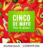 cinco de mayo fiesta food and...   Shutterstock .eps vector #1338449186