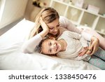 my mom is very funny. mother...   Shutterstock . vector #1338450476