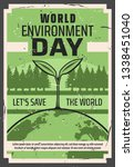 world environment day  save... | Shutterstock .eps vector #1338451040
