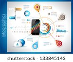 infographic template for cloud... | Shutterstock .eps vector #133845143