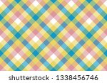 colored check plaid seamless... | Shutterstock . vector #1338456746
