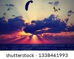 beautiful sunset of... | Shutterstock . vector #1338461993