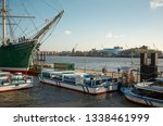 germany. hamburg. boats on the... | Shutterstock . vector #1338461999