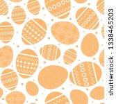 white easter seamless pattern... | Shutterstock . vector #1338465203