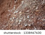 mixed sandstone soil and rock... | Shutterstock . vector #1338467630