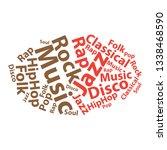 text cloud. music wordcloud.... | Shutterstock .eps vector #1338468590