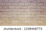 stone tile wall pattern texture | Shutterstock . vector #1338468773