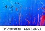 vibrant blue color metal... | Shutterstock . vector #1338468776