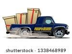 cartoon delivery cargo pickup...   Shutterstock .eps vector #1338468989