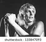 Small photo of LONDON - JULY 21: Andy Ellison, Lead singer of British rock band Radio Stars, performs live on stage on July 21, 1978 in London. He was previously in the band John's Children with the late Marc Bolan.