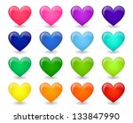 set of colored icons of glossy... | Shutterstock . vector #133847990