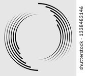lines in circle form . spiral... | Shutterstock .eps vector #1338483146