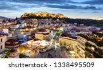 athens   acropolis at night ... | Shutterstock . vector #1338495509