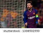 Small photo of Lionel Messi of Barcelona during the UEFA Champions League Round of 16 Second Leg match between FC Barcelona and Olympique Lyonnais at Nou Camp on March 13, 2019 in Barcelona, Spain.