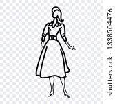 girl icon  female fashion ... | Shutterstock .eps vector #1338504476
