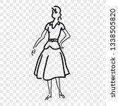 girl icon  hand drawn symbol... | Shutterstock .eps vector #1338505820