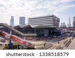 hung hom  kowloon  hong kong  ... | Shutterstock . vector #1338518579