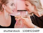 party for two. blonde women... | Shutterstock . vector #1338522689