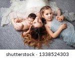 mother and children newborn and ...   Shutterstock . vector #1338524303