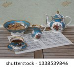 english teacup with saucer ... | Shutterstock . vector #1338539846