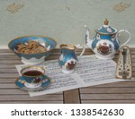 english teacup with saucer ... | Shutterstock . vector #1338542630