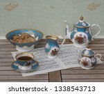 english teacup with saucer ... | Shutterstock . vector #1338543713