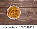lot of whole mini salted... | Shutterstock . vector #1338548990