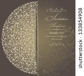 wedding invitation cards... | Shutterstock .eps vector #133854908