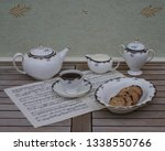 english teacup with saucer ... | Shutterstock . vector #1338550766