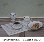 english teacup with saucer ... | Shutterstock . vector #1338554570