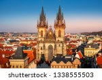 an aerial view of the roofs of... | Shutterstock . vector #1338555503