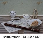 english teacup with saucer ... | Shutterstock . vector #1338556139