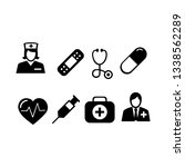 medical black icons vector | Shutterstock .eps vector #1338562289