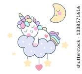 cute unicorn vector star... | Shutterstock .eps vector #1338571616