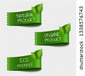 organic labels transparent... | Shutterstock . vector #1338576743