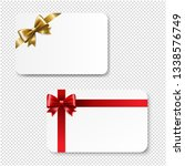 gift card color bow isolated... | Shutterstock . vector #1338576749