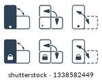 smartphone orientation change... | Shutterstock .eps vector #1338582449